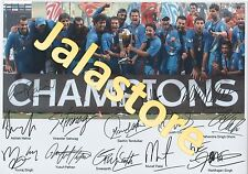 CRICKET WORLD CUP CHAMPIONS 2011 INDIAN TEAM AUTOGRAPH A4 PHOTO PRINT GLOSS