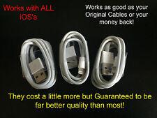 3x 8 pin Good As Original Charger Charging Sync Cable  iPhoneX 8 7 6 5 iPad iPod