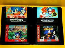 Sonic the Hedgehog 1 2 3  & Sonic Blast  (Sega Genesis) Lot of 4 Works Great