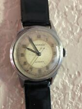 Vintage Movado Factories Manual Wind Stainless Steel Mens Watch Working