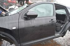 2009 NISSAN QASHQAI J10 PASSENGER SIDE LEFT HAND FRONT DOOR - BLACK (Z11)