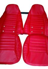 (1970)(1978) Datsun240z/260z/280z Leather Replacement SPORT Seat Cover Black&Red