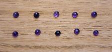 AMETHYST STONES - 10 x NEW UNUSED 4mm Round Cabochon -  Jewellery Craft Hobby