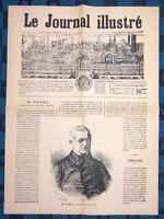 La Une Du Journal Le Journal Illustré 17 Septembre 1871 M. Thiers Président