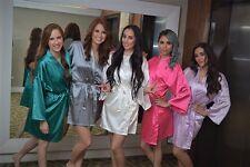 USA SELLER Women's SILK Kimono Robes Bathrobe BRIDE, BRIDESMAID S-XXL