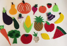 Vegetables & Fruit Felt Pieces- Children's Felt/Flannel Board Story