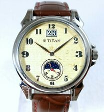 TITAN AUTOMATIC WIND MOON PHASE BIG DATE DESIGNER CREAM DIAL MENS WATCH SIZE41MM