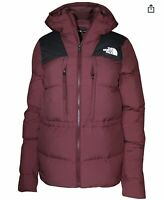 NWT The North Face Women's Size M Red UX 550 Down Parka Jacket Nuptse Hooded