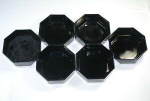 Arcoroc France Octime Black Cereal Bowls  - 6 piece set