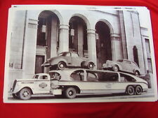 NEW 1939 STUDEBAKER ON CAR HAULER  BIG  11 X 17   PHOTO   PICTURE