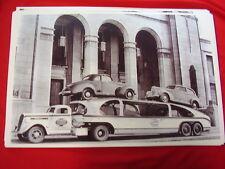 NEW 1939 STUDEBAKER ON CAR HAULER  BIG  11 X 17   PHOTO   PICTURE