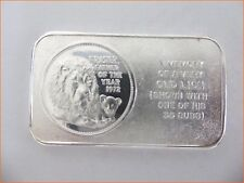 """1 oz .999 Silver """"FRASIER, FATHER OF THE YEAR 1972"""" Pioneer Mint Art Bar  7123"""