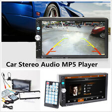 """2Din 7"""" HD Bluetooth Stereo Audio MP5 Car Radio Player With Rear View Camera Kit"""