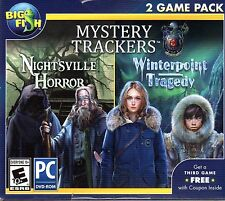Mystery Trackers NIGHTSVILLE HORROR + WINTERPOINT TRAGEDY Hidden Object PC NEW
