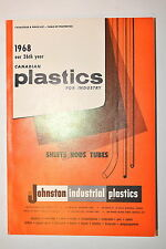 1968 Canadian Plastics For Industry Catalog & Price List by Johnston Ind. #Rb118