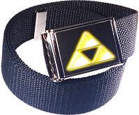 Zelda Triforce Logo Belt Buckle Bottle Opener Adjustable Web Belt
