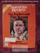 Saturday Review March 15 1980 JOHN SILBER ROBERT SAM ANSON BOSTON UNIVERSITY