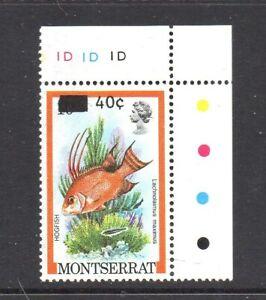 Br. Commonwealth. Montserrat 1983 - QEII Fish -  ERROR Surch on 10c SG577c - U/M