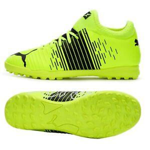 Puma Youth Future Z 4.1 TT Cleats Soccer Futsal Yellow Kid Boot Spike 10640301