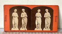 PANDORA AND VENUS Antique SELECTED STATUARY Stereoview