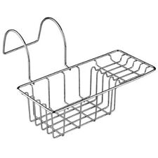 Premier Housewares Over Side Bath Rack - Chrome Bathroom Tray Caddy Tidy Soap
