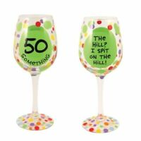 Our Name is Mud 50th Something Birthday Wine Glass Enesco Product Great Gift