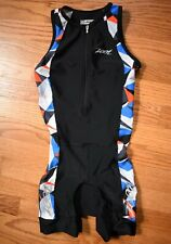 Zoot Triathlon Tri Skinsuit Speed Suit Kids Youth M Boys Girls Cycling Black