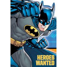 Batman Invitations x 8 Birthday Invites Party Supplies