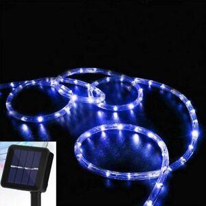 Solar String Rope Lights Outdoor Twinkle Lighting Waterproof Garden Decoration
