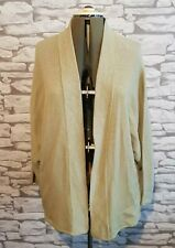 WALL LONDON Womens green knit wear cardigan size s/m 10/12 uk loose fit