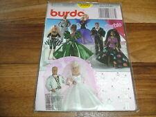 BURDA poupées-MOTIFS de coupe 3886 Barbie-Robe de mariée // 11 Pièces Set
