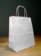 250 8x4x10 (approximate) White Paper Cub Handle Shopping Gift Bags