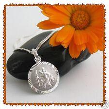Gravur 925 Silber Anhänger Heiliger Christophorus Schutzpatron der Reisenden