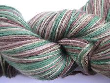100gm Pure Merino Wool 4 ply Knitting Brown Caramel Green   Hand-dyed Yarn 450m