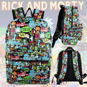 Anime Rick and Morty Backpack Travel Schoolbag Laptop Bag Cosplay Gift