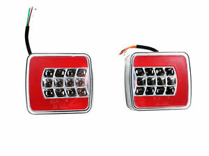 12V LED Rückleuchte Heckleuchte 4 Funktionen Rücklicht Anhänger Traktor E-Prüf.