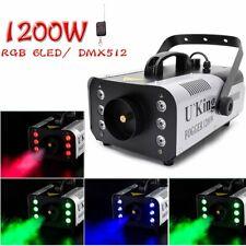 1200W DMX Nebelmaschine Bühnenlicht RGB 9LED Rauch Fernbedienung Party Bar Club