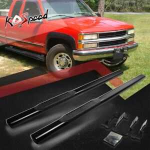 "4"" (OVAL TUBE) Side Step Bar Running Boards for 88-00 Chevy GMC C/K Extended Cab"