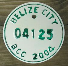 BELIZE CITY, BELIZE Motorcycle License Plate Expired 2004 - 04125