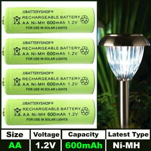 AA Rechargeable Solar Light Batteries 1.2v 600mAh AA NiMH - Replaces old NiCd