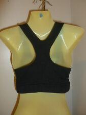 Champion M / L black stretch racer-back sports bra