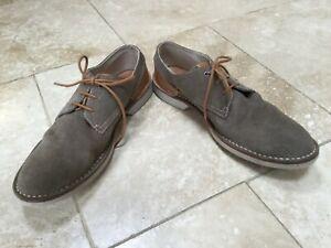 Clarks Mens Mink Suede /Leather Lace Up Shoes Size 9. VGC