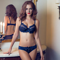 Super Boost Push Up Lace Side Support Plunge Underwired Bra A B C D Cup Set B916