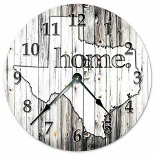 """TEXAS RUSTIC HOME STATE CLOCK - Large 10.5"""" Wall Clock - 2253"""