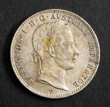 1862, Austria, Francis Joseph I. Beautiful Silver 1/4 Gulden Coin. Venice mint!