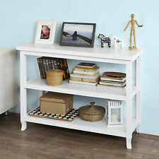 SoBuy® Console Table,Side Table Kitchen Island in 3 Shelves,FSB06-W,UK