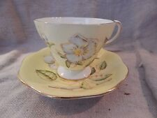Vintage Foley Bone China Teacup and Saucer Anemone