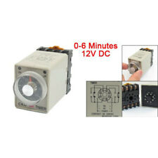 New DC 12V 0-6 Minutes 8 Pin Plastic Housing Delay Timer Time Relay AH3-3 w J5Q5