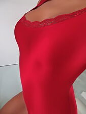Neu 2018 Stretch Sexy Damen Body Z88 Hemd Fashion Red Blouse Top Bluse Rot M/L