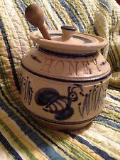 Cedar Swamp Stoneware Cape Cod Honey Jar Dipper Jack Boyko Signed Salt Glaze